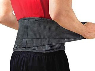 Back Support Belt by Sparthos   Relief for Back Pain  Herniated Disc  Sciatica  Scoliosis and more Breathable Mesh Design with lumbar Pad Adjustable Support Straps a lower Back Brace  Size Small