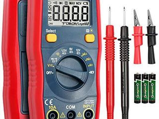 AstroAI Digital Multimeter  Voltmeter 1 5v 9v 12v Battery Voltage Tester Auto Ranging Ohmmeter DMM with Non Contact Voltage Function  Accurately Measures Voltage Current Amp Resistance Capacitance