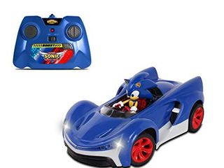 NKOK Team Sonic Racing 2 4Ghz Remote Controlled Car with Turbo Boost   Sonic The Hedgehog  Abstract Abstract