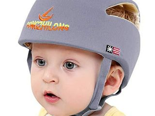 Huifen Baby Children Infant Toddler Adjustable Safety Helmet Headguard Protective Harnesses Cap Blue  Providing Safer Environment When learning to Crawl Walk Playing Baby Infant Grey Hat  Gray
