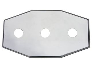 Simpatico 31657P Stainless Steel  Remodel Plate Fits Single Handle Delta Or Moen Valves  Polished Brass
