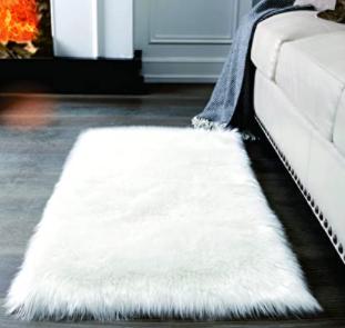 long Faux Fur White Rug