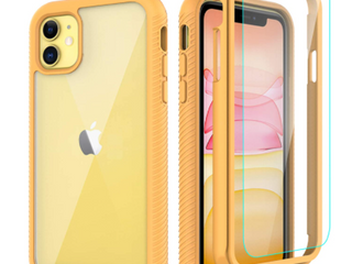 CEllEVER full body case for iPhone 11  Yellow