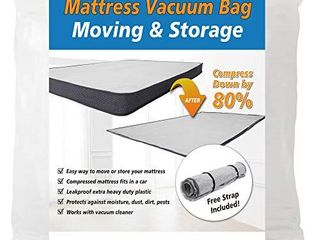 Twin Twin Xl  Foam Mattress Vacuum Bag for Moving Storage Compress Mattress by 80  Vacuum Seal Mattress Bag  leakproof   Sealable Vacuum Bag for Mattress  Mattress Storage Bag Includes Straps