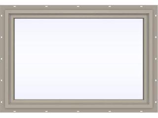 JElD WEN 35 5 in  x 23 5 in  V 4500 Series Desert Sand Vinyl Picture Window w  low E 366 Glass