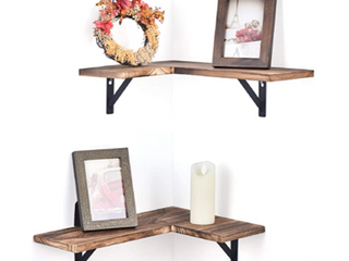 Oakley corner shelf set of 2