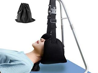 Head Relief Hammock for Neck Shoulder Pain  Portable Cervical Traction and Relaxation Device w Hammock Stand Suitable for Office Staff  Drivers