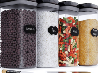 Chef s Path food storage container set 3 2 l piece set free chalkboard labels in Marrker