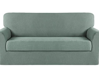 Turquoize premium stretch slipcover soft and comfortable machine washable  Color GREEN