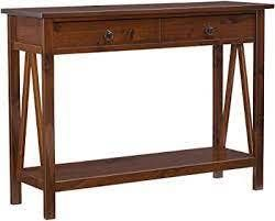 lining console table antique brown