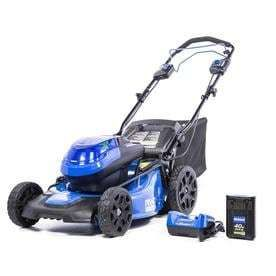 Kobalt 40 volt Brushless lithium Ion 20 in Self Propelled Cordless Electric lawn Mower  Battery Included