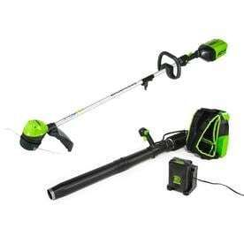 Greenworks 2 Piece 60 volt Cordless Power Equipment Combo Kit