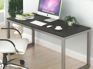 SHW Home Office 55 Inch large Computer Desk  Espresso