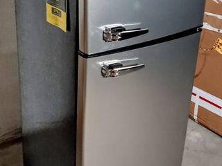 Frigidaire Model EFR751   2 Door Apartment Size Refrigerator w  Freezer  7 5 cu ft   Platinum Series   Black   Stainless   Compressor Kicks On  But Does NOT Cool