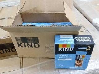 Kind Bars Blueberry Vanilla   Cashew Gluten Free low Sugar 1 4 Oz 12 Count Per Box  2 Boxes  24 Total Bars