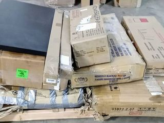 lot of 10 Incomplete or Damaged Furniture   Other Items on Pallet