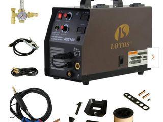 140 Amp MIG Wire Feed Welder Flux Core Welder and Aluminum Welder UNG 5 8 in  Hose Fitting Regulator 2T 4T Switch 110V