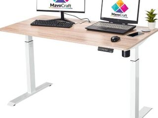 55 Inch Electric Height Adjustable Sit and Stand Desk   Adjustable Desks for Home Office and Study Area   Standing Office Desk with Height Adjustment Controller and Grommets for Cable Management