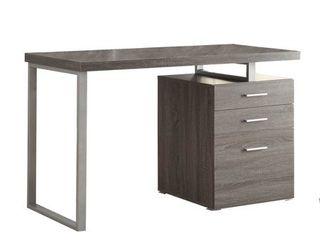3 drawer Brennan Office Desk Weathered Grey by Coaster   800520  47 25 x 23 50 x 30H