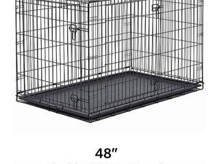 48  Folding Metal Double Door Dog Crate
