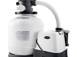 Has Been Previously Used  Intex 16 Inch 2 150 GPH Krystal Clear Saltwater System   Sand Filter Pump