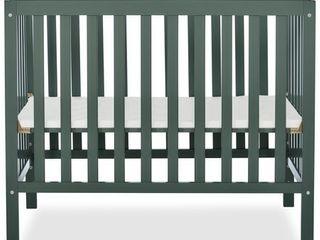 Dream On Me Edgewood 4 in 1 Convertible Mini Crib  Olive