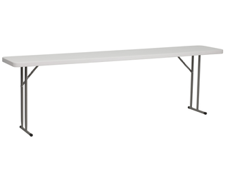 Flash Furniture RB 1896 GG 18 Inch Width by 96 Inch length Granite Plastic Folding Training Table  Gray White