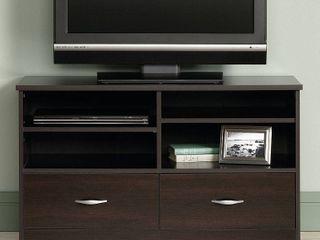 Sauder Beginnings TV Stand for TVs up to 46  Cinnamon Cherry Finish