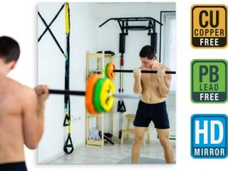 Fab Glass and Mirror GM36x60 HD Tempered Glass Mirror for Gym   Dance Studio  48  x 84  Clear Retails Over  700