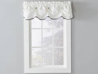 lot of Two SKl Home Manor 13 Inch Valance in Dove Gray