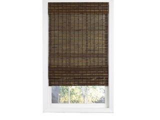 Radiance Cordless Cocoa Havana Flatweave Bamboo Roman Shade