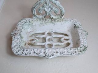 Small White Wrought Iron Soap Dish