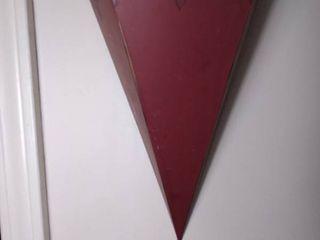 Small Red Metal Wall Hanging Decor Shelf