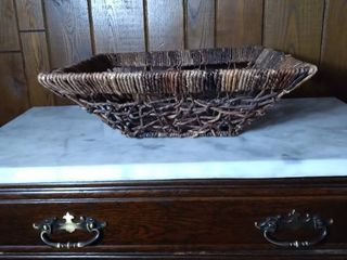 Dark Square Wicker Woven Basket