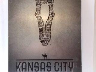 Kansas City Places Wall Art Metal Sign   Dark Horse Wines   15 x 23