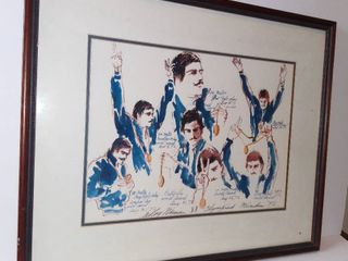 Mark Spitz With Medals   leRoy Neiman Signed And Numbered limited Edition Serigraph On Paper   From The Munich Suite  1972