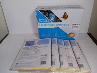 New Unopened lASER TONER CARTRIDGE For HP laserJet   5 Packs Of lEATHER TAB INDEXES By Sparco