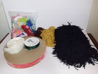 lot Of Misc Ribbons And Assorted Tassel Fabric Trim
