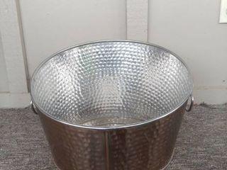 Crofton Copper Toned Metal Bucket with Handles