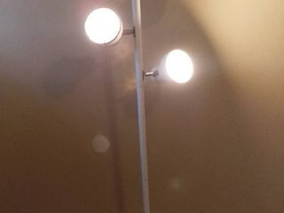 Standing 3 light lamp   50 Inches Tall   White   Cord Uncompromised   Tested And WORKING