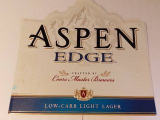 Tin Metal Sign   ASPEN EDGE By COORS MASTER BREWERS   27 X 27 Inches