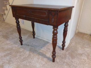 Vintage Secretary Desk With Concealable Work Area