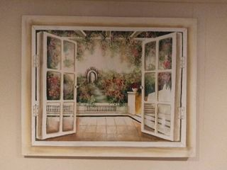large Wall Hanging Art Print Remake   Scenery By l Montana 50 X 40