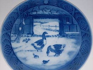 lot Of Collectible Ceramic Holliday Plates ROYAl COPENHAGEN   In The Old Farm Yard