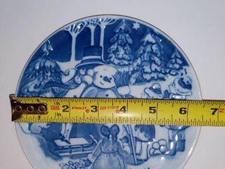 lot of 4 Ceramic Collectible Royal Copenhagen Children s Christmas Plates