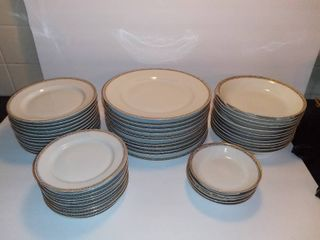 Mega lot Of H Co Slem Bavaria Fine China   11 Dinner Plates 9 5 Inches   12 Plates 7 5 Inches   11 Saucers 6 Inches   12 Soup Bowls 7 5 Inches   5 Small Bowls 5 Inches