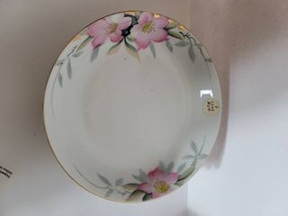 lot of 4 Noritake Azalea Shallow Salad Dishes 7 5in Diameter   Red label