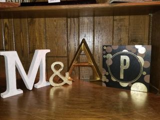 lot of Embellishing letters and Metal Ampersand