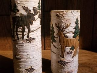 Pair of Woodland Tea Candle Holders