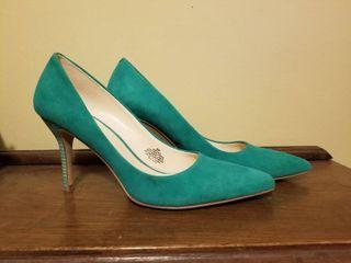 Nine West Blue High Heels  Size 9